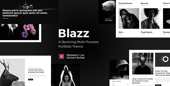 Blazz - Creative Multi-Concept Portfolio WordPress Theme