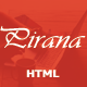 Pirana - Responsive Personal Template - ThemeForest Item for Sale