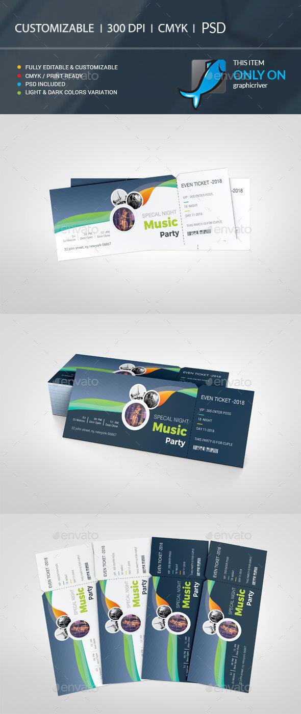 Event Ticket - Cards & Invites Print Templates