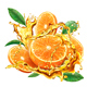 Orange into of Splashes Juices - GraphicRiver Item for Sale