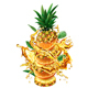 Slices of Orange and Pineapple into of Splashes of Juices - GraphicRiver Item for Sale