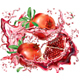 Pomegranate into of Burst Splashes of Juices - GraphicRiver Item for Sale