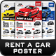 Rent a Car Poster Templates - GraphicRiver Item for Sale