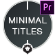 Free Download Minimal Titles Nulled