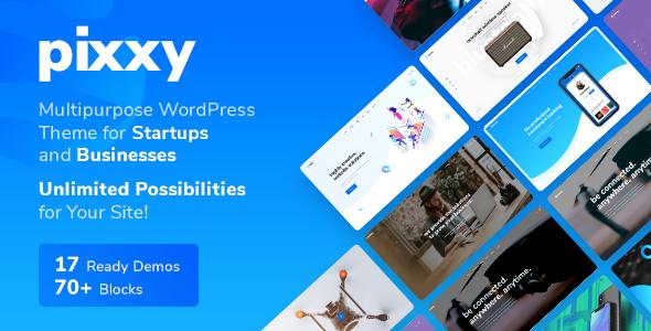 Pixxy - A Powerful Startup Business WordPress
