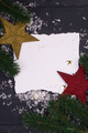 Bright christmas composition with stars, fir branch three - PhotoDune Item for Sale