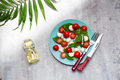 Delicious caprese salad with cherry tomatoes and mozzarella cheese balls with fresh basil leaves - PhotoDune Item for Sale