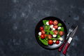 Italian caprese salad with sliced tomatoes, mozzarella cheese, basil, olive oil - PhotoDune Item for Sale