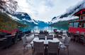 Cafe on the nature background lovatnet lake. - PhotoDune Item for Sale