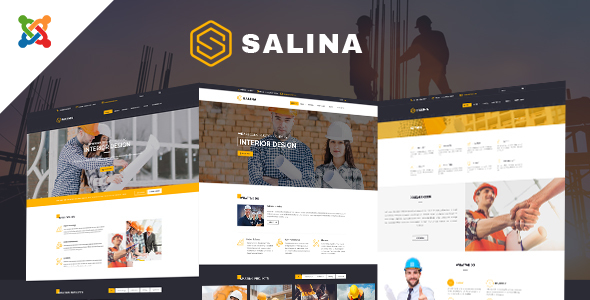 Salina - Construction Joomla Template With Page Builder