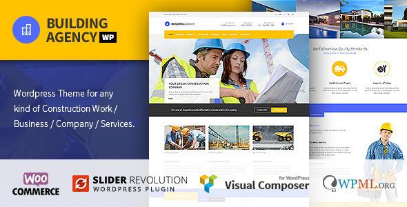 Building Agency - Construction WordPress Theme