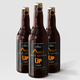 Amber Glass Beer Bottle Mockup 01 - GraphicRiver Item for Sale