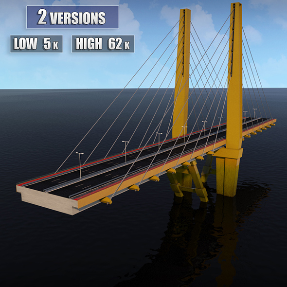 Suspended Water Road Bridge 2 - 3DOcean Item for Sale