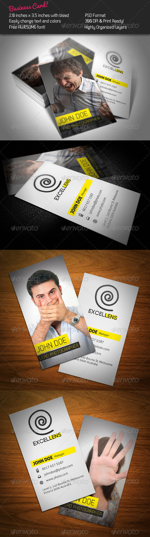 Excellens Business Card - Creative Business Cards