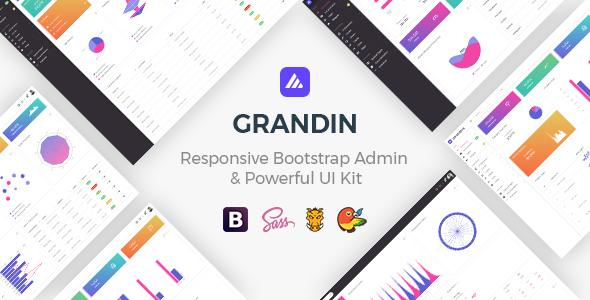 Grandin - Responsive Bootstrap Admin & Powerful UI Kit - Admin Templates Site Templates