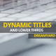 Dynamic Titles and Lower Thirds - VideoHive Item for Sale