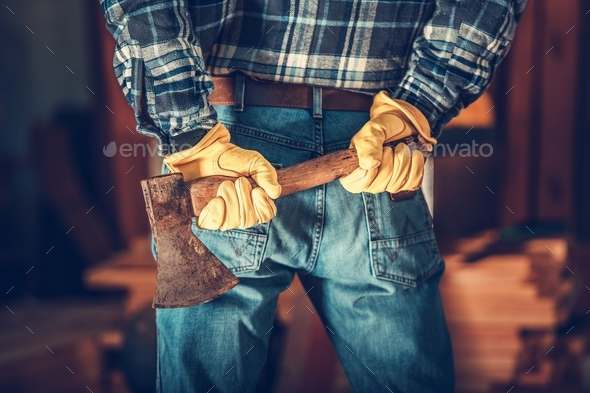 Lumberjack with Axe - Stock Photo - Images