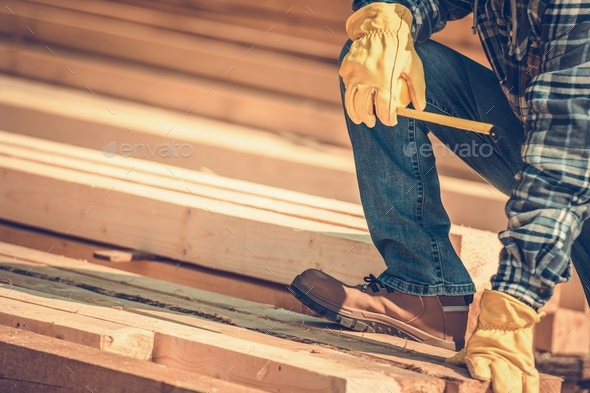 Construction Wood Beams - Stock Photo - Images