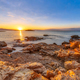 Peloponnese coast red rocks sunrise - PhotoDune Item for Sale