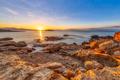 Peloponnese coast red rocks sunrise - PhotoDune Item for Sale