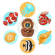 Cartoon Underwater Life Concept - GraphicRiver Item for Sale