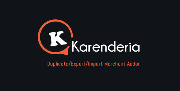 KMRS Duplicate/Export/Import Merchant Addon - CodeCanyon Item for Sale