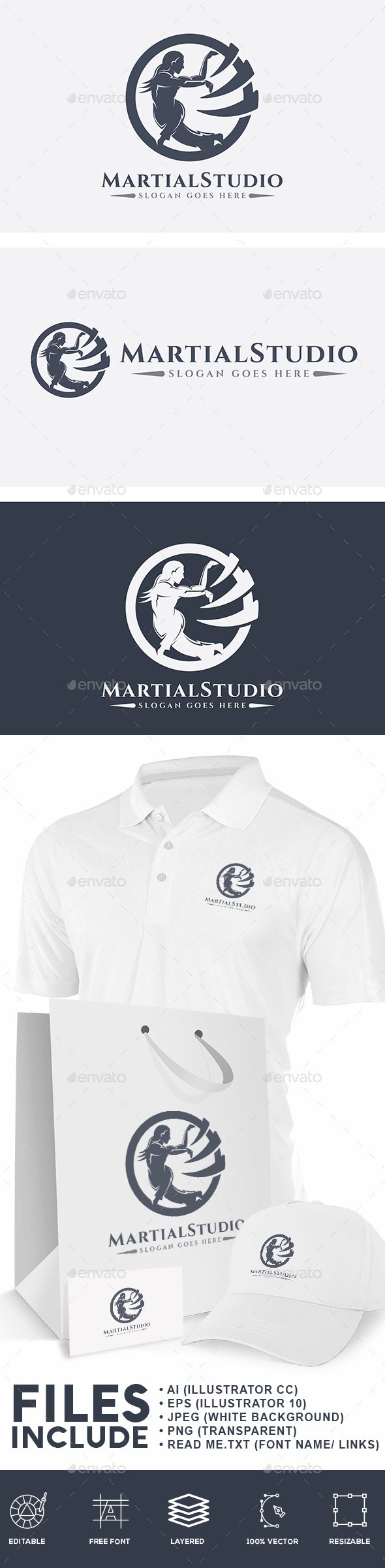 Martial Studio Logo - Humans Logo Templates