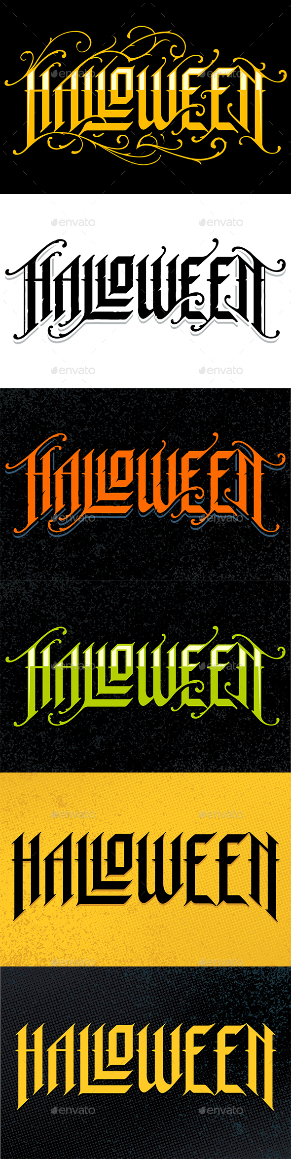 Halloween Gothic Lettering - Halloween Seasons/Holidays