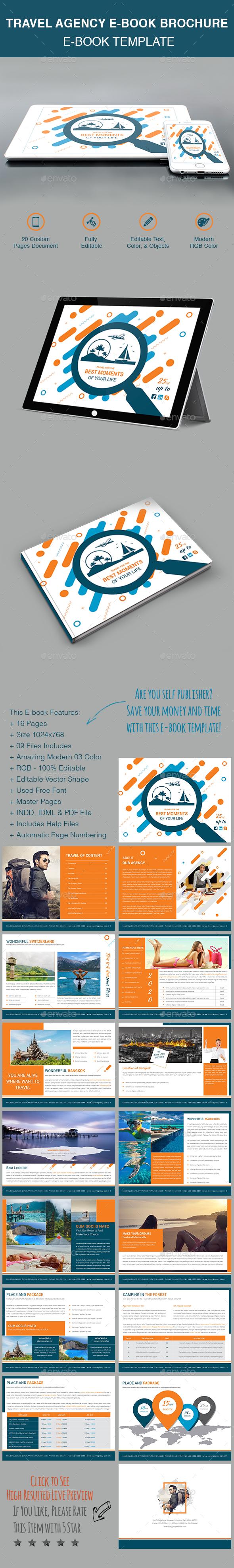Travel Agency E-Book Brochure - Digital Books ePublishing