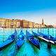 Venice landmark San Marco Campanile, gondolas and Grand Canal . - PhotoDune Item for Sale