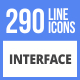 290 Interface Filled Line Icons