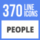 Free Download 370 People Filled Line Icons Nulled