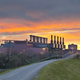 Steel Plant With Fiery Sky - PhotoDune Item for Sale
