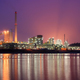Coking plant with pink sky - PhotoDune Item for Sale