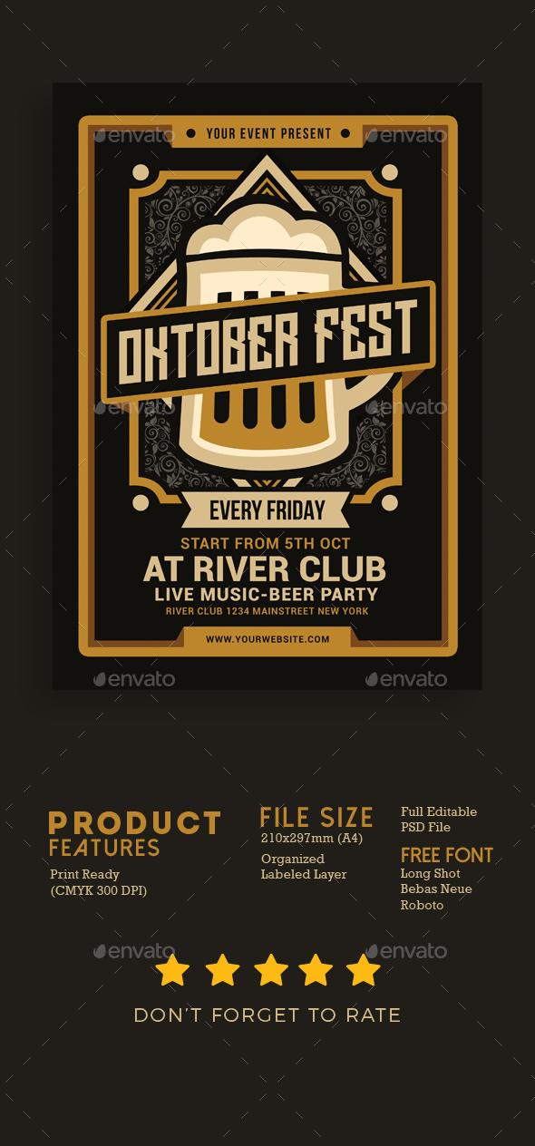 Oktober Fest Flyer - Flyers Print Templates