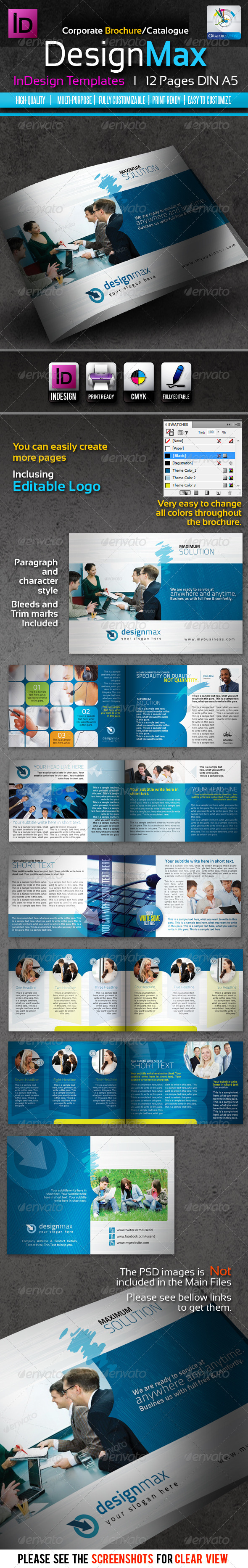 DesignMax InDesign Brochure/Catalogue 12pages - Corporate Brochures