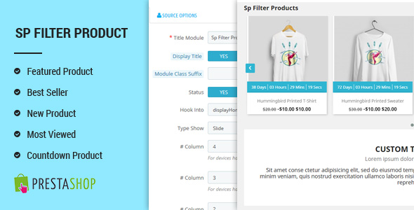 SP Filter Product - Advanced Filters PrestaShop 1.7 Module Free Download | Nulled