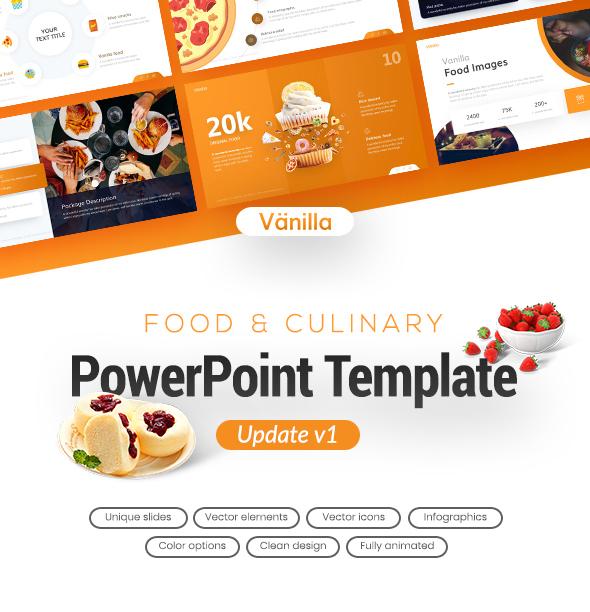 Vanilla food and culinary powerpoint template by brandearth vanilla food and culinary powerpoint template powerpoint templates presentation templates toneelgroepblik Images