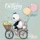 Little Panda on Bike - GraphicRiver Item for Sale