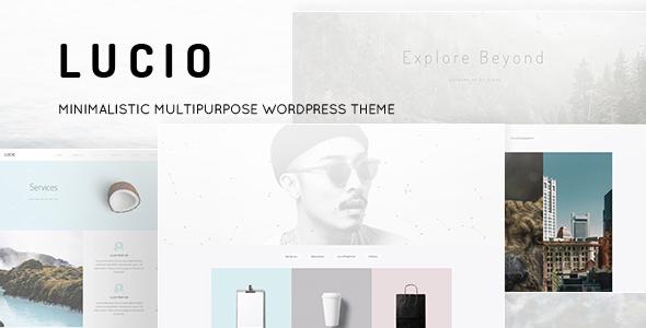 Lucio - Clean and Minimal Portfolio and Agency WordPress Theme
