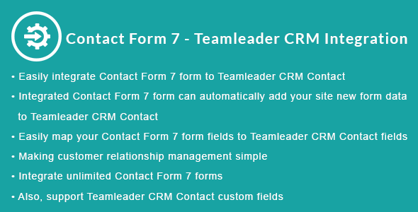 Contact Form 7 - Teamleader CRM Integration            Nulled