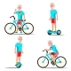 Old Man Riding Hoverboard, Bicycle Vector. City - GraphicRiver Item for Sale