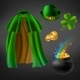 Vector Set of Saint Patricks Day Elements