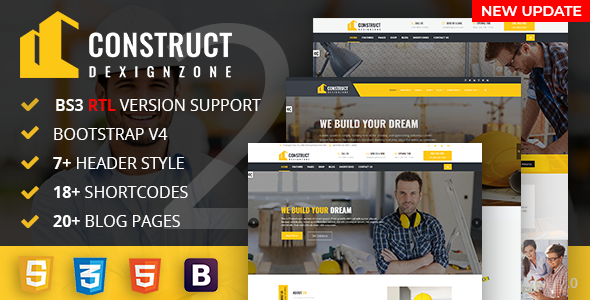 ConstructZilla : Construction, Renovation & Building HTML Template With RTL Ready - Corporate Site Templates