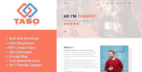 Taso - Personal Portfolio Template
