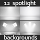 12 Infinite White Floor Spotlight Backgrounds - GraphicRiver Item for Sale