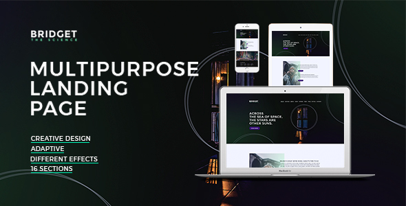 Bridget – Responsive HTML Landing Page - Creative Site Templates