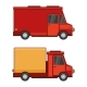 Delivery Cargo Car Set on White Background - GraphicRiver Item for Sale