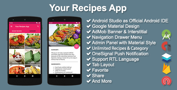 Your Recipes App - CodeCanyon Item for Sale