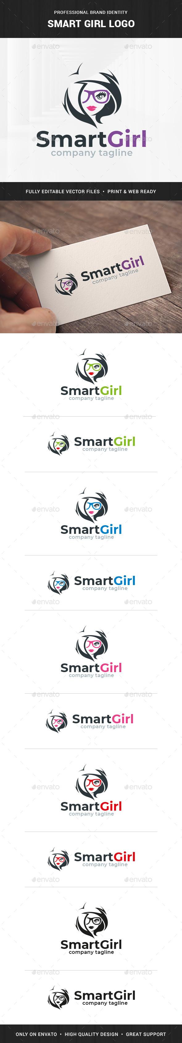 Smart Girl Logo Template - Humans Logo Templates